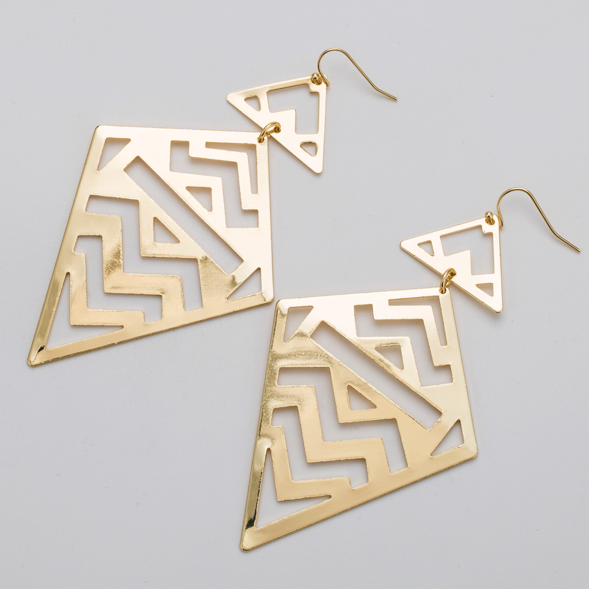 Zinc Alloy Ethnic Geometric Creative Hollow Big Earring For Women 2019 Boho Gold Drop Long Pendientes Oversize Dangle Bohemian in Drop Earrings from Jewelry Accessories