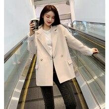 Women Office Lady Wear Suit Blazer Solid Casual Coat Jacket