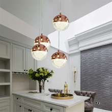 Modern Crystal Ball Pendant Lights Nordic Pendant Lamp for Dining Room Living Room Stair Hanging Lamps Home Decor Light Fixtures modern nordic rose plant pendant lights led glass hanging lamp for home decor luminaires dining room living room light fixtures