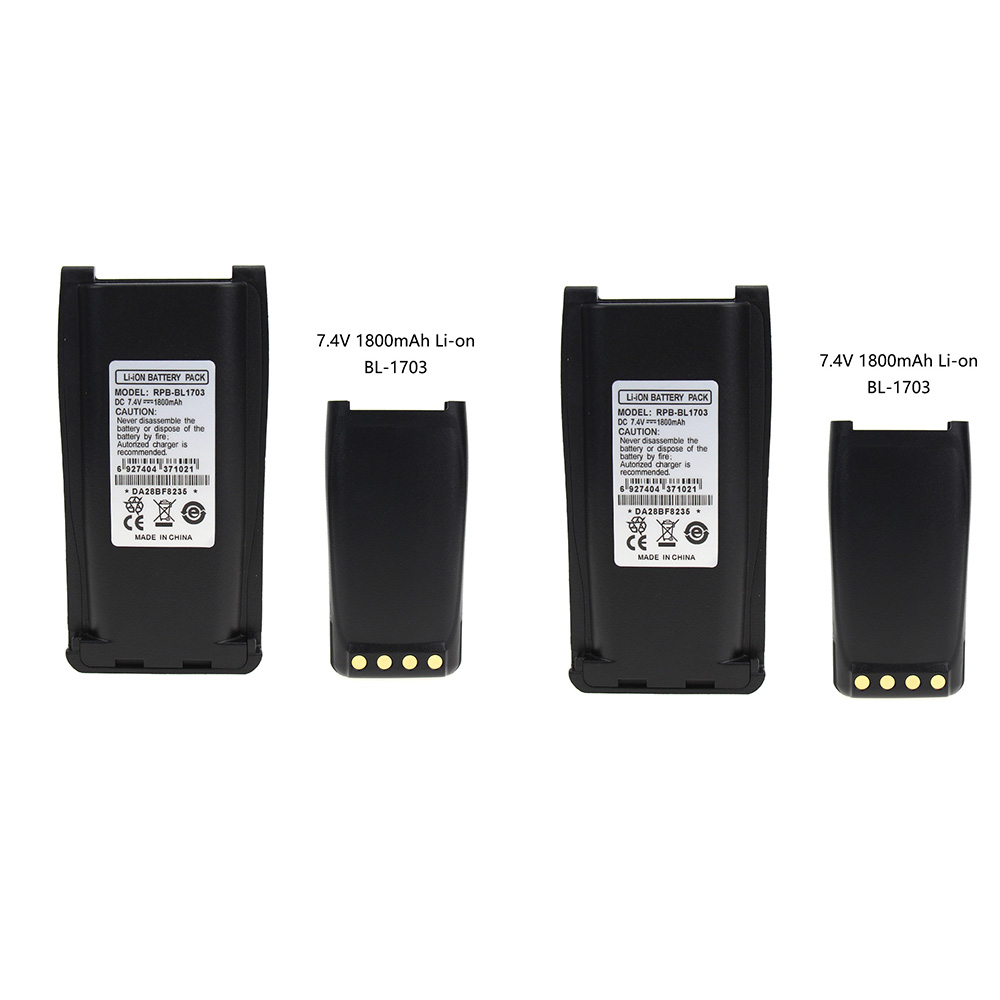 2X Replacement Battery For HYT RPU7500 RPV7500 PN BH1801 BL1703 BL1703Li BL2102 BL1703