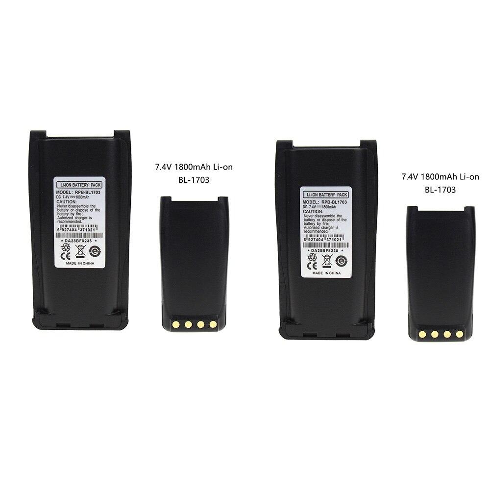 2X Replacement Battery For HYT RPU7500 RPV7500 PN BH1801 BL1703 BL1703Li BL2102 BL1703