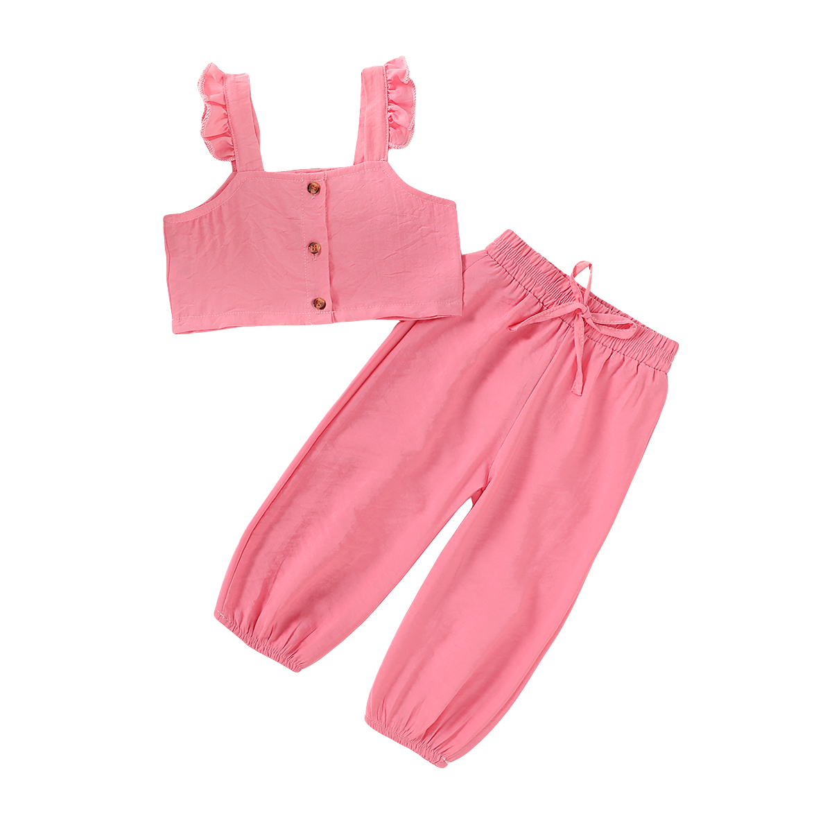 US Infant Baby Girl Mesh Sling Top Shorts Pants Trousers 2PCS Outfit Clothes Set