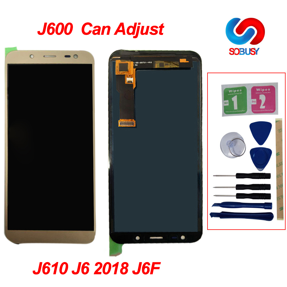 <font><b>J600</b></font> Einstellbare Helligkeit LCD Für <font><b>Samsung</b></font> <font><b>Galaxy</b></font> <font><b>J6</b></font> <font><b>2018</b></font> <font><b>J600</b></font> J600F J600Y LCD Display Touchscreen Digitizer Montage Teile image