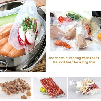 1 Roll Vacuum Fresh-keeping Bag Sealer Food Storage Bags Packaging Film Keep Fresh Non-toxic Packing Bag Household Supplies 1 roll 100pcs thickened saran wrap vacuum sealer general food saver plastic bag food storage preservation bags packaging film