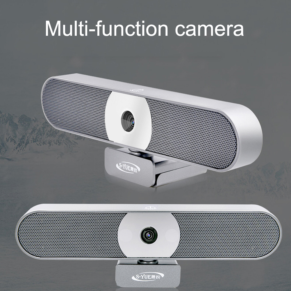 HD Autofocus Webcam 8.0 Mega 4K Video Calling Camera for Laptop Desktop Webcam Build in Noise Reduce Microphone with Fill Light