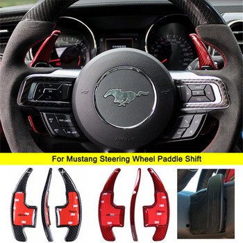 Car Accessories Carbon Fiber For Ford Mustang Steering Wheel Shift Paddles Extension Shifters Gear kit 2016 2017 Car-styling