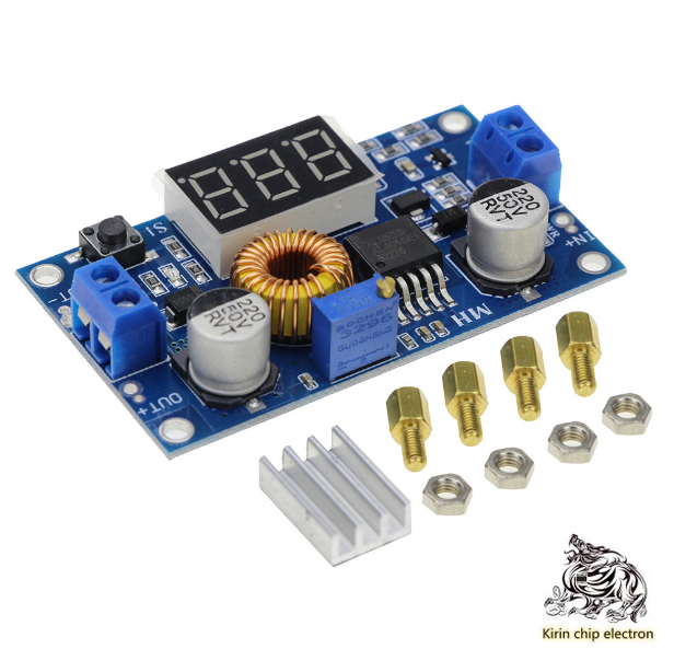 5pcs / Lot 5A High Power 75W DC-DC Adjustable Step-down Regulated Power Module With Voltmeter Display