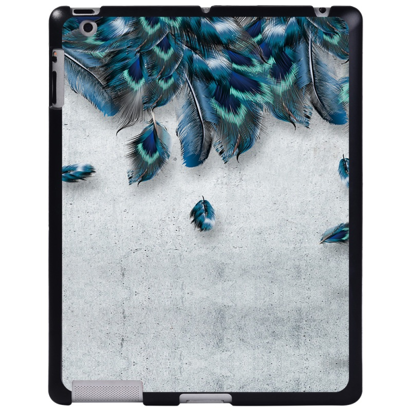 falling peacock DarkCyan For Apple iPad 8 10 2 2020 8th 8 Generation A2428 A2429 tablet PC Plastic Printed