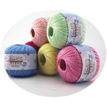Ball-Art Yarn Crochet-Trim Thread Hand-Knitting Silk Baby Soft Cotton for Lot DIY 50g