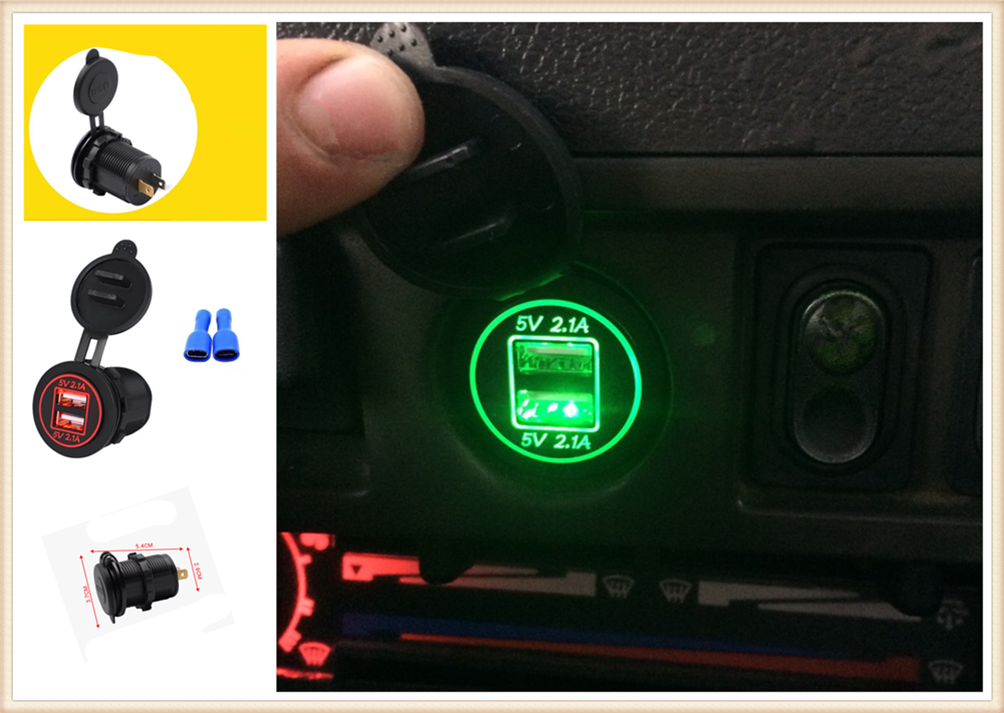 Motorcycle car <font><b>accessories</b></font> double USB mobile phone charger for <font><b>Infiniti</b></font> QX QX60 <font><b>Q30</b></font> Q70L Q70 Synaptiq Q80 image