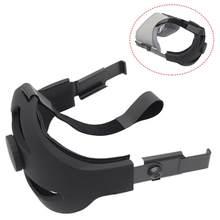 Confortável ajustável cabeça cinta para oculus quest vr fone de ouvido ar óculos almofada espuma ajustável sem pressão alivia acessórios