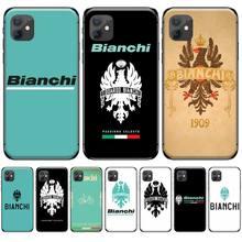 цена на Bianchi Bike Logo Accessories Coque Shell Phone Case For iphone 4 4s 5 5s 5c se 6 6s 7 8 plus x xs xr 11 pro max