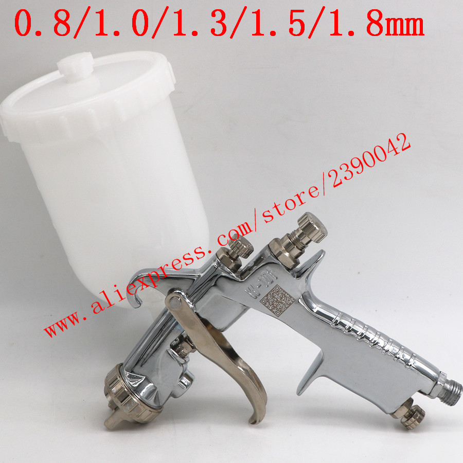 Original Import HVLP W101 134G Hand Manual Paint Spray Gun W-101 Spray Gun 0.8/1.0/1.3/1.5/1.8mm Furniture Car Paint Pistol
