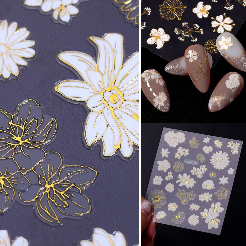 Adesivo 3d para decoração de unhas, padrão de borboleta, adesivo de transferência para unhas, primavera e verão, 1 peça