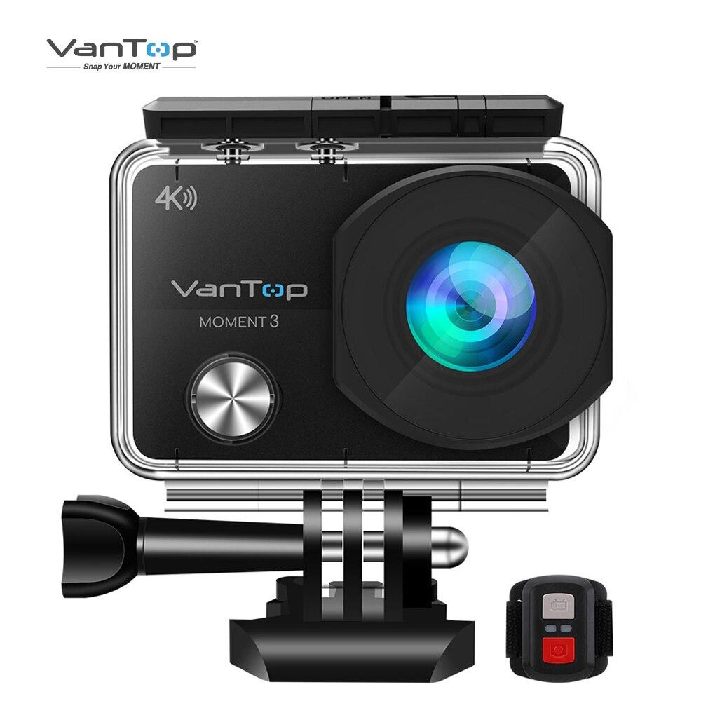 Caméra étanche sous-marine de caméra d'action de VanTop Moment 3 4K avec la Mini caméra extérieure de Sports vidéo de WiFi grand Angle de 170 °