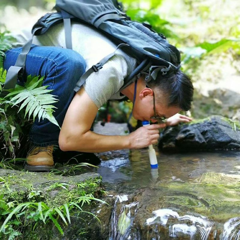New Outdoor Water Purifier Wild Survival Camping Travel Water Filter Straight Drink Straw Type Water Purifier Water Filter