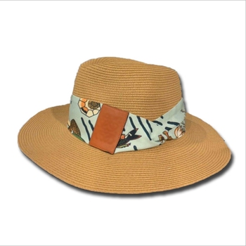 20 Lafite 20 Spring/summer Day Blue Strap-strap Top Hat Wide Edge Sun Shade Sun Protection Uv Fisherman Hat Straw Hat For Lady