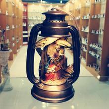 Decorazioni per la casa Set di presepe natalizie Figurine di gesù scene di nascita di cristo regalo di natale statua della santa famiglia decorazioni per alberi di natale LED