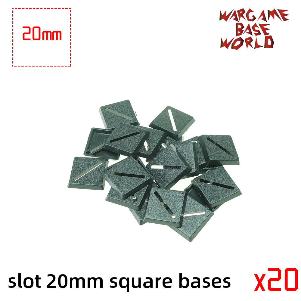 Wargame Base World - Slot 20mm Square Bases
