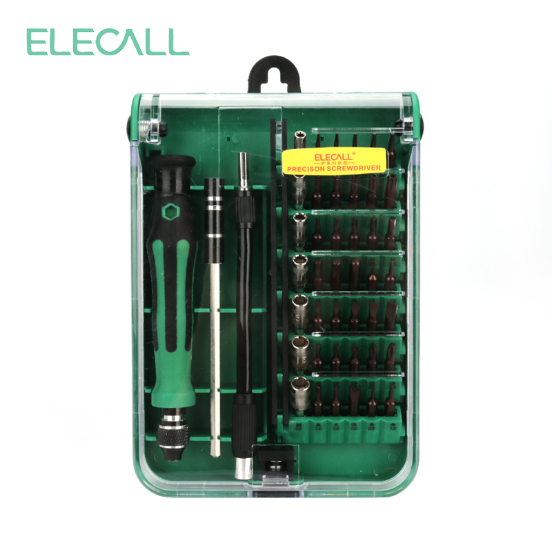 ELECALL 45 in 1 Universal Screwdriver Set Multitool Phillips Hex Torx Screw Driver Kit Repair tools for  Iphone Laptop Tablet screwdriver kit driver socketsocket driver - title=
