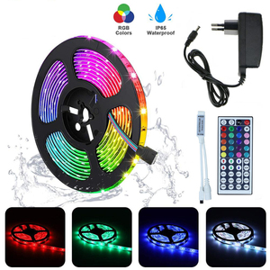 RGB LED Strip Light SMD2835 5050 5M 10M Waterproof RGB Tape DC12V Ribbon diode led lights Strip Lamp with IR Remote Controller(China)