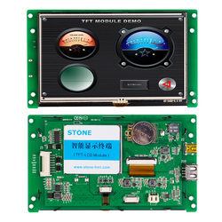 5.0 Inch TFT LCD Display Module with RS232/RS485/TTL