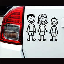 CK2994# Dad mom and son reflective funny car sticker vinyl decal car auto stickers on car truck bumper rear window laptop 35pcs rick and morty vinyl stickers decal for window car laptop