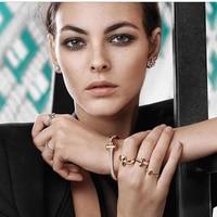 New Fashion Complete Wide Bangle Bracelet Crystal Hinge Bracelet Rose Bracelet Wide Bracelet T shaped Bracelet