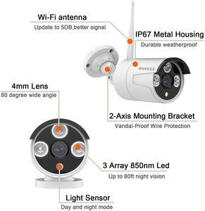 Image 5 - Système de caméra de sécurité sans fil, 8CH 1080P NVR Kit , 8 pièces 1080P(2.0M) extérieur CCTV sans fil IP67 caméra de Surveillance vidéo