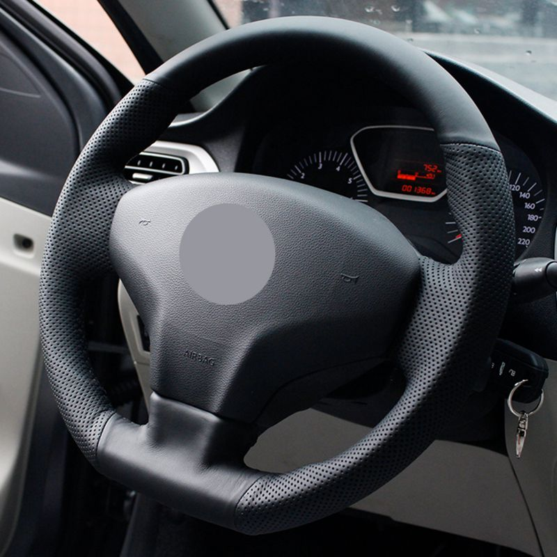 INOMOTIV Universal Car Steering Wheel Cover Hand Stitching Anti Slip Design Soft Padding for Chevrolet Cruze Lacetti Peugeot Tiguan BMW Camry Rav4 Tacoma Corolla Prius Accord CRV HRV Black