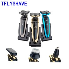 kemei rechargeable electric shaver facial care men s shaving electric shaver hair trimmer high quality material rscw 5600 TFLYSHAVE Shaver For Men Electric Shaver Facial Shaving Machine Waterproof Beard Trimmer Private Facial Rechargeable Sharp
