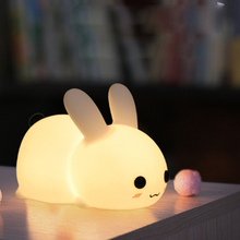Silicone Jade Rabbit Led Night Light Kids Toy Usb Charging T