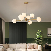Nordic LED Chandelier Modern Living Room Dining Kitchen Ball Ceiling Hanging Lamp For In The Hall Loft Home decor Light Fixtures
