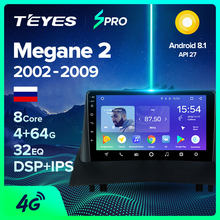 TEYES SPRO para Renault Megane 2 2002-2009 auto Radio Multimedia reproductor de Video GPS de navegación Android 8,1 No 2din 2 din dvd(China)