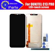 OUKITEL C13 برو شاشة الكريستال السائل + محول الأرقام بشاشة تعمل بلمس 100% الأصلي اختبار LCD شاشة زجاج لوحة ل C13 برو + أدوات + لاصق