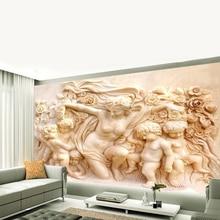 Carta Da Parati Custom Photo Wallpaper 3D Stereo Mural House Angel Cupid Wallpaper Living Room Bedroom Background Wall Paper2020