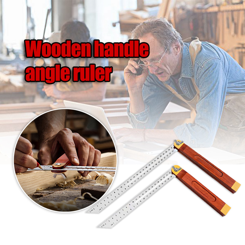 Handle Stainless Steel Multi Angle Ruler Adjustable Sliding Bevel Carpentry Angle Finder Tool GHS99