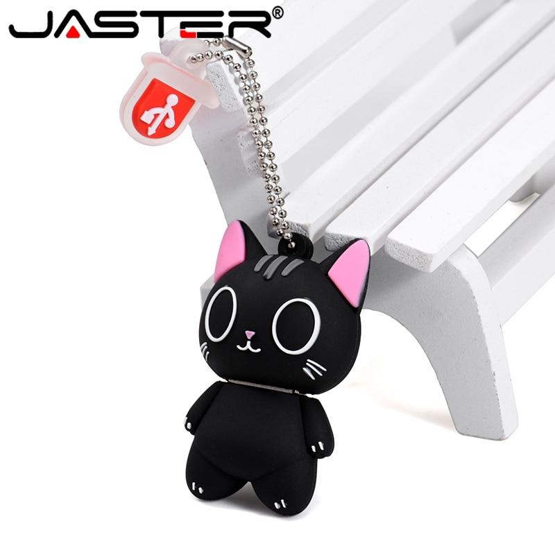 JASTER Cartoon Cat  Usb Flash Drive Usb Pendrive Et 4GB 8GB 16GB 32GB 64GB 128GB USB 2.0 Bulk Gift Usb Memory Stick U Disk