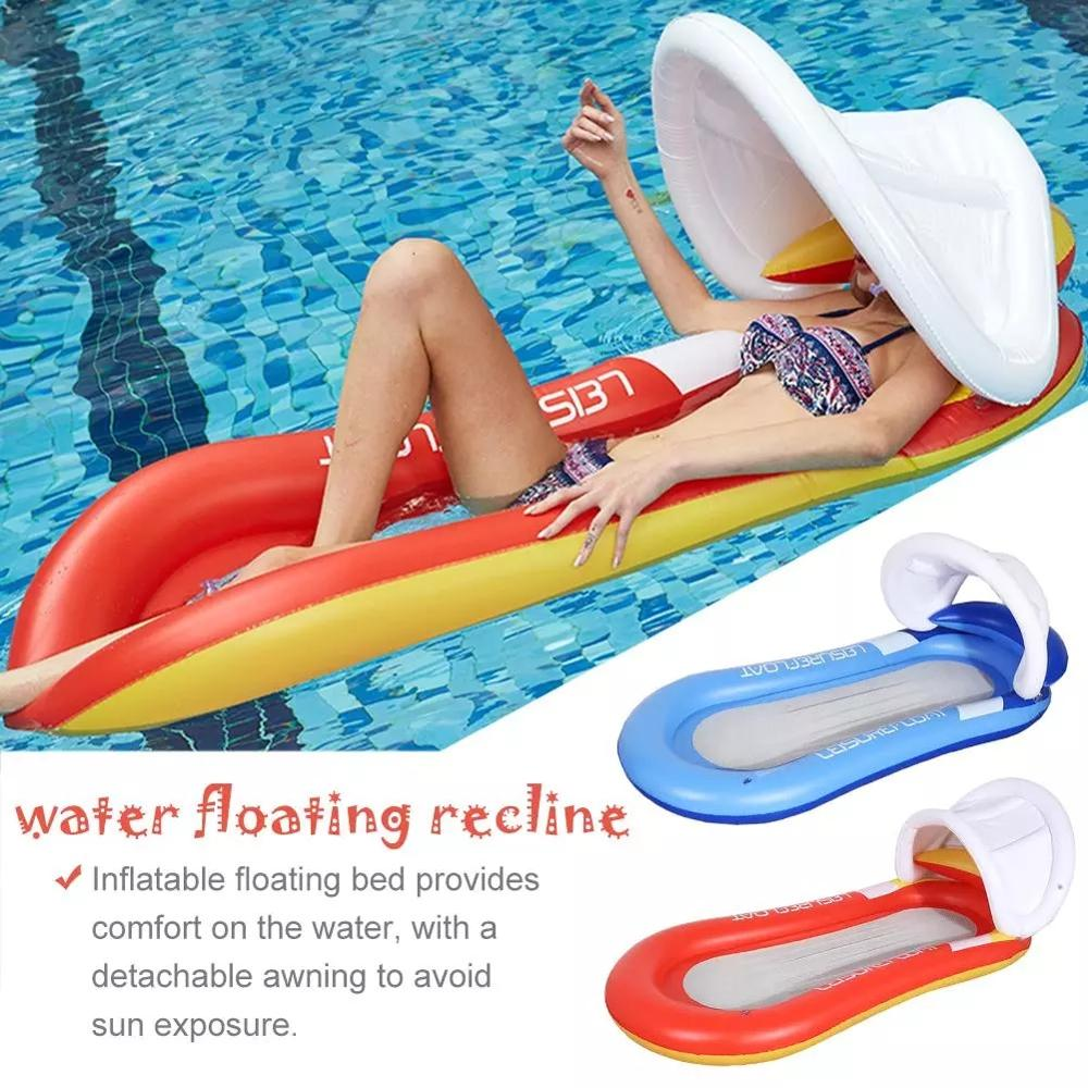 Outdoor Floating Sleeping Bed Inflatable Water Hammock Pool Swimming !! US