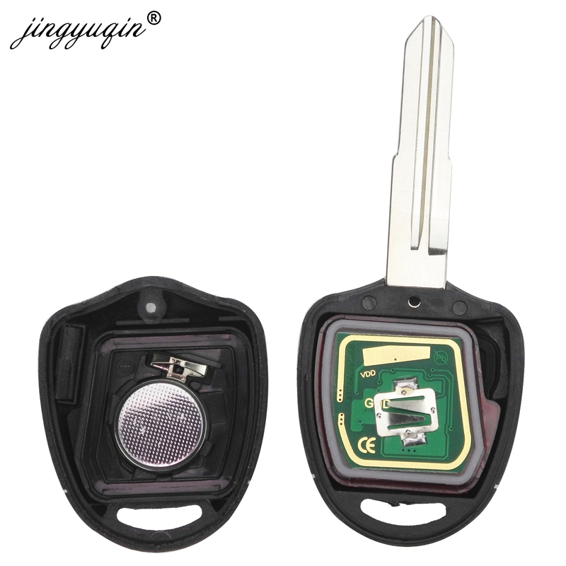 Jingyuqin 2/3 кнопки Автомобильный Дистанционный ключ Костюм для MITSUBISHI Outlander Pajero Triton ASX Lancer Shogun MIT8 MIT11 Blade 433MHz
