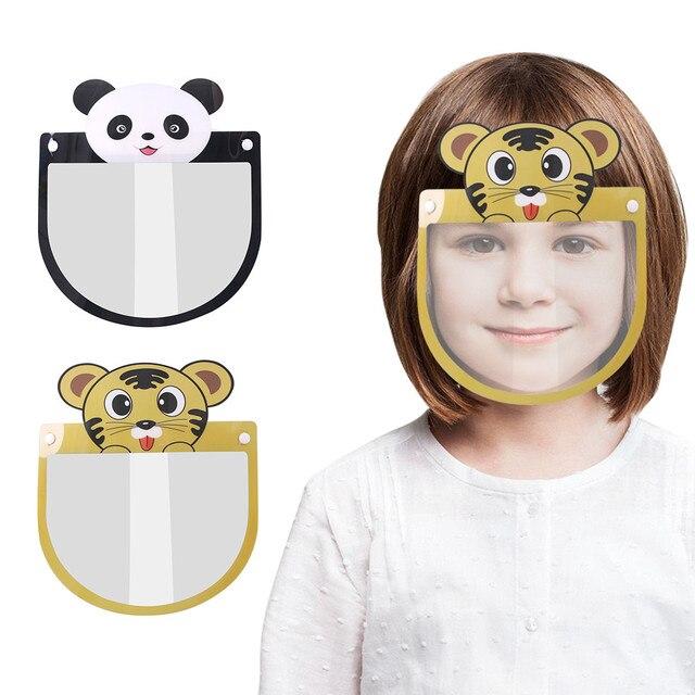 Kids Child Transparent Face Shields Cartoon Anti-fog Guard Anti-saliva Safety Protection Face Mask Mascarillas Jy6