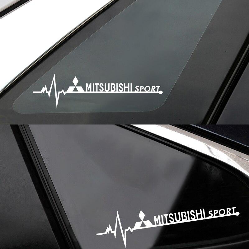 2 шт. боковое окно автомобиля украшения спортивные эмблемы наклейки для тела для Мицубиси ASX Lancer Pajero Outlander L200 автомобиль EVO для укладки волос