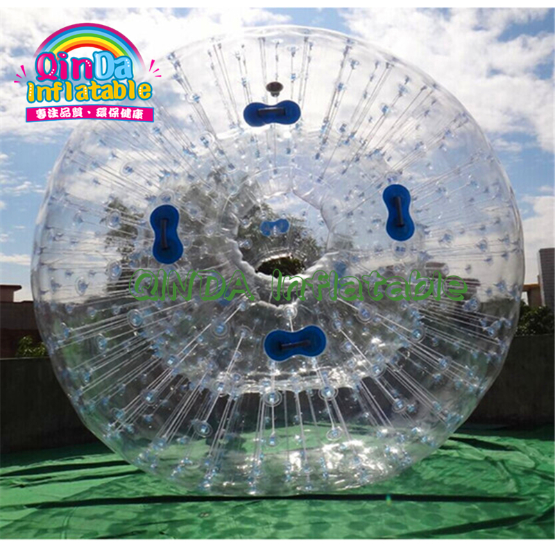 Large PVC Cheap 2.5m Inflatable Body Zorbing Balls Inflatable Human Hamster Ball For Adults, Grass Zorbing Ball For Sale