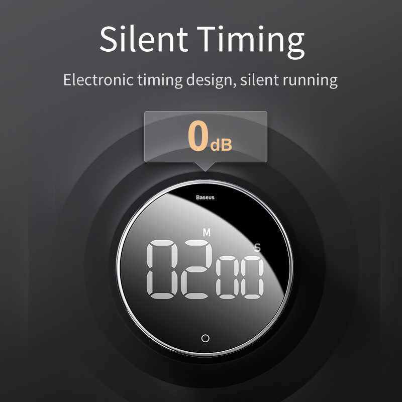 Baseus LED cyfrowy zegar kuchenny do gotowania prysznic Study Alarm stoper zegar magnetyczna elektroniczna do gotowania odliczanie czasu