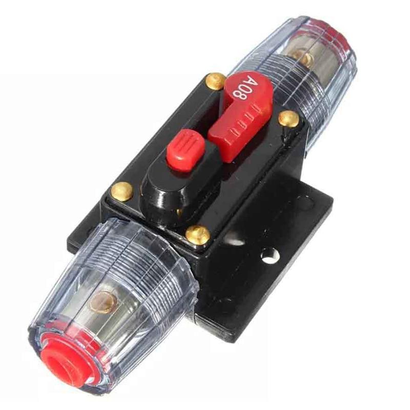 150/100/50/30/20/40/60/80a 12 v caminhão do carro de áudio modificação estéreo amplificador interruptor interruptor de fusível automático reset