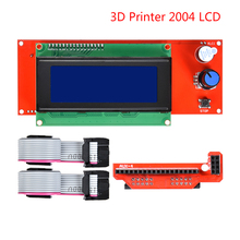 For 3D Printer 2004 LCD Ramps Smart Parts  Controller Display Module  Smart Control Reprap 1.4 1.6 Mega2560 Board 33d printer kit smart parts ramps 1 4 controller control panel lcd 2004 module display monitor motherboard blue screen