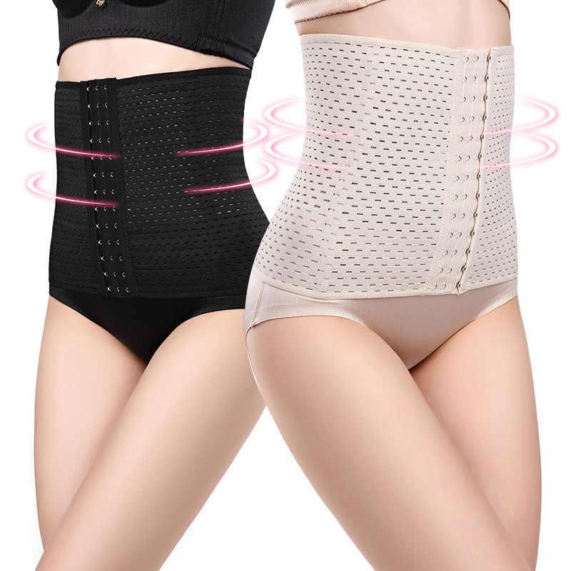 Coloriented cintura cinchers senhoras corset shaper banda corpo construção frente fivela três breasted suporte dropship