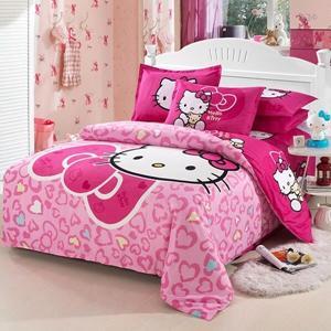 BEST.WENSD 3/4pcs/set Ultra Soft Cotton Bedding Sets Duvet Cover Bed Cover Set Flat Sheet Set Pillowcase Set Kid Cartoon Bedding