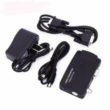 Портативный BNC к VGA видео конвертер Композитный S-Video вход к ПК VGA выход адаптер цифровой переключатель коробка для ПК MACTV камера DVD DVR