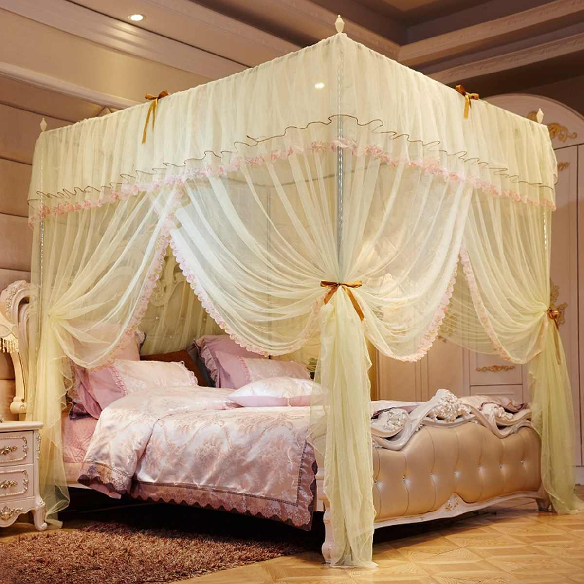 Interiors Ciel De Lit bedding girl princess mosquito net bed canopy tent curtain room decor  klamboe baldachim ciel de lit camas dormitorio